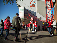 Fans make their way to the City Ground before the Sky Bet Championship match between Nottingham Forest and Millwall at the City Ground, Nottingham, England on 4 August 2017. Photo by James Williamson / PRiME Media Images.