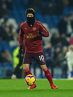Arsenal's Mesut Ozil during the pre-match warmup<br /> <br /> Photographer David Horton/CameraSport<br /> <br /> The Premier League - Brighton and Hove Albion v Arsenal - Wednesday 26th December 2018 - The Amex Stadium - Brighton<br /> <br /> World Copyright © 2018 CameraSport. All rights reserved. 43 Linden Ave. Countesthorpe. Leicester. England. LE8 5PG - Tel: +44 (0) 116 277 4147 - admin@camerasport.com - www.camerasport.com