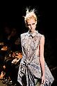 October 19, 2011: Tokyo, Japan - A model walks down the catwalk wearing SHIROMA during Mercedes-Benz Fashion Week Tokyo 2012 Spring/Summer. The Mercedes-Benz Fashion Week Tokyo runs from October 16-22. (Photo by Yumeto Yamazaki/AFLO)