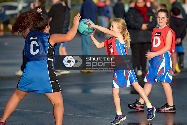 NELSON, NEW ZEALAND - JUNE 24: Club Netball, Saxton, June 24, 2017, Nelson, New Zealand. (Photo by: Barry Whitnall Shuttersport Limited)