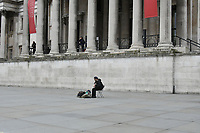 Very quiet National Gallery in Trafalgar Square during Coronavirus outbreak in London, England on March 18, 2020.<br /> CAP/JOR<br /> ©JOR/Capital Pictures