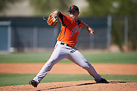 San Francisco Giants pitcher Caleb Baragar (64) during an Instructional League game against the Los Angeles Angels of Anaheim on October 13, 2016 at the Tempe Diablo Stadium Complex in Tempe, Arizona.  (Mike Janes/Four Seam Images)