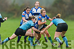 Tralee's Christine Arthurs attempts to come forwards as Galwegians Orla Dixon and Fiona Scally tackles her in O'Dowd Park on Sunday
