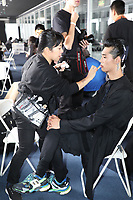 Model at the backstage <br /> Dior Homme show, backstage, Pre Fall 2019, Tokyo, Japan - 30 Nov 2018.<br /> CAP/SAT<br /> &copy;Satomi Kokubun/Capital Pictures
