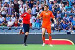 Stockholm 2014-07-07 Fotboll Allsvenskan Djurg&aring;rdens IF - IF Elfsborg :  <br /> Elfsborgs m&aring;lvakt Kevin Stuhr-Ellegaard protesterar mot domare Markus Str&ouml;mbergsson efter att Djurg&aring;rden f&ouml;r en straff i den f&ouml;rsta halvleken<br /> (Foto: Kenta J&ouml;nsson) Nyckelord:  Djurg&aring;rden DIF Tele2 Arena Elfsborg IFE diskutera argumentera diskussion argumentation argument discuss domare referee ref arg f&ouml;rbannad ilsk ilsken sur tjurig angry