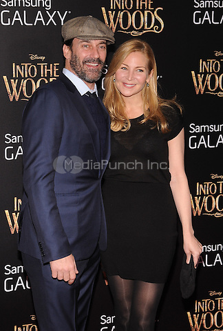 New York,NY-December 8: Jon Ham, Jennifer Westfeldt  Attends the 'Into The Woods' world premiere at the Ziegfeld Theater on December 8, 2014. Credit: John Palmer/MediaPunch