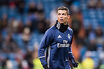 Cristiano Ronaldo of Real Madrid in training prior to the Copa del Rey 2016-17 Quarter-final match between Real Madrid and Celta de Vigo at the Santiago Bernabéu Stadium on 18 January 2017 in Madrid, Spain. Photo by Diego Gonzalez Souto / Power Sport Images
