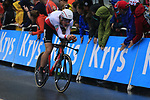 Swiss National Champion Stefan Kung (SUI) BMC Racing Team in action during Stage 1, a 14km individual time trial around Dusseldorf, of the 104th edition of the Tour de France 2017, Dusseldorf, Germany. 1st July 2017.<br /> Picture: Eoin Clarke | Cyclefile<br /> <br /> <br /> All photos usage must carry mandatory copyright credit (&copy; Cyclefile | Eoin Clarke)