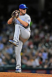 12 September 2008: Kansas City Royals' pitcher Jeff Fulchino on the mound in relief against the Cleveland Indians at Progressive Field in Cleveland, Ohio. The Indians defeated the Royals 12-5 in the first game of their 4-game series...Mandatory Photo Credit: Ed Wolfstein Photo