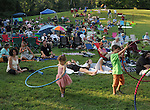 Audience listening to, Terri McMurray and Paul Brown, performing on the Hoot Hill stage, on the 2nd day of the 4th Annual Summer Hoot Festival held at the Ashokan Center, Olivebridge, NY, on Saturday, August 27, 2016. Photo by Jim Peppler; Copyright Jim Peppler 2016.
