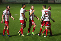 Alex Samuel of Stevenage scores the first goal for his team and celebrates during Stevenage vs Brighton & Hove Albion Under-21, Checkatrade Trophy Football at the Lamex Stadium on 7th November 2017