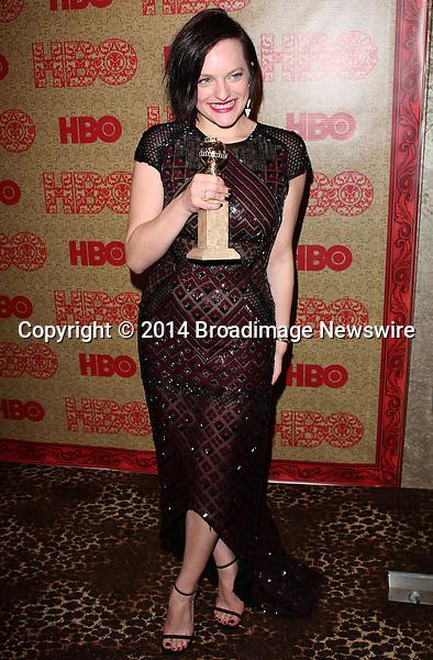 Pictured: Elisabeth Moss<br /> Mandatory Credit &copy; Frederick Taylor/Broadimage<br /> HBO's Post 2014 Golden Globe Awards Party - Arrivals<br /> <br /> 1/12/14, Los Angeles, California, United States of America<br /> <br /> Broadimage Newswire<br /> Los Angeles 1+  (310) 301-1027<br /> New York      1+  (646) 827-9134<br /> sales@broadimage.com<br /> http://www.broadimage.com