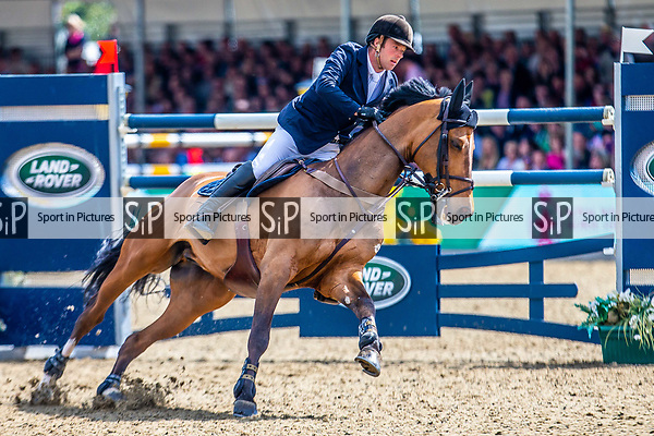 Day 5. Royal Windsor Horse Show. Windsor. Berkshire. UK.  Showjumping. Rolex Grand Prix. William Whitaker in Utamro D Ecaussines. GBR 4th place.13/05/2018. ~ MANDATORY Credit Elli Birch/Sportinpictures - NO UNAUTHORISED USE - 07837 394578