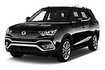 2017 Ssangyong XLV Sapphire 5 Door SUV angular front stock photos of front three quarter view