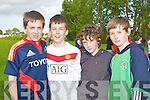 200mtr: Aaron Ferris, Liam Kennelly,Thomas Leen and Darragh Costello who ran in the 200mtr at theBoherbee Community Games Community games ast Mounthawk Soccer grounds on Friday evening...