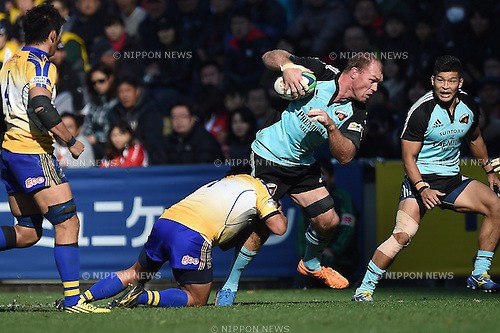 Schalk Burger (), DECEMBER 12, 2015 - Rugby : Japan Rugby Top League 2015-2016 match between NTT Communications Shining Arcs 5-38 Suntory Sungoliath at Chichibunomiya Rugby Stadium, Tokyo, Japan. (Photo by AFLO)