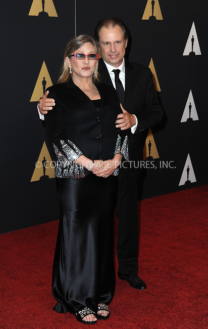 WWW.ACEPIXS.COM<br /> <br /> November 14 2015, LA<br /> <br /> Carrie Fisher arriving at the Academy of Motion Picture Arts and Sciences' 7th Annual Governors Awards at The Ray Dolby Ballroom at the Hollywood &amp; Highland Center on November 14, 2015 in Hollywood, California<br /> <br /> <br /> By Line: Peter West/ACE Pictures<br /> <br /> <br /> ACE Pictures, Inc.<br /> tel: 646 769 0430<br /> Email: info@acepixs.com<br /> www.acepixs.com