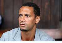 PICTURE BY VAUGHN RIDLEY/SWPIX.COM - Rugby League - Super League - Leeds Rhinos v Wigan Warriors - Headingley, Leeds, England - 01/06/12 - Rio Ferdinand attends the match as a guest of Kris Radlinski.