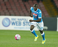 Kalidou Koulibaly  during the  italian serie a soccer match,between SSC Napoli and Chievo Verona      at  the San  Paolo   stadium in Naples  Italy , March 05, 2016