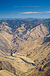 Hells Canyon and the Snake River from Hat Point Lookout, Hells Canyon National Recreation Area, Oregon, looking across the river to Idaho.