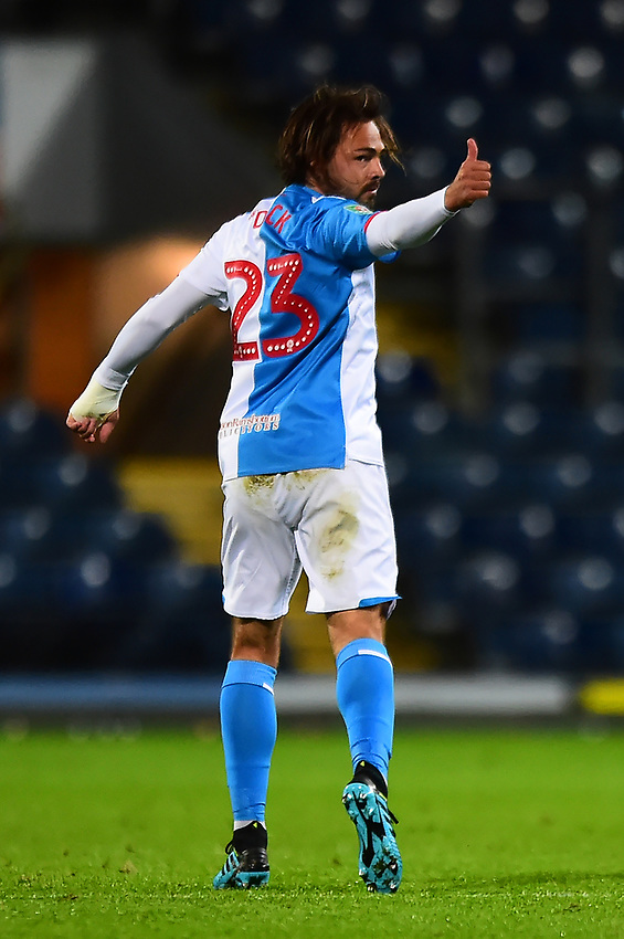 Blackburn Rovers' Bradley Dack gives a thumbs up after scoring his side's first goal<br /> <br /> Photographer Richard Martin-Roberts/CameraSport<br /> <br /> The Carabao Cup First Round - Tuesday 13th August 2019 - Blackburn Rovers v Oldham Athletic - Ewood Park - Blackburn<br />  <br /> World Copyright © 2019 CameraSport. All rights reserved. 43 Linden Ave. Countesthorpe. Leicester. England. LE8 5PG - Tel: +44 (0) 116 277 4147 - admin@camerasport.com - www.camerasport.com