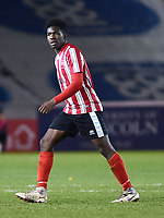 Lincoln City U18's Timothy Akinola<br /> <br /> Photographer Andrew Vaughan/CameraSport<br /> <br /> The FA Youth Cup Second Round - Lincoln City U18 v South Shields U18 - Tuesday 13th November 2018 - Sincil Bank - Lincoln<br />  <br /> World Copyright © 2018 CameraSport. All rights reserved. 43 Linden Ave. Countesthorpe. Leicester. England. LE8 5PG - Tel: +44 (0) 116 277 4147 - admin@camerasport.com - www.camerasport.com