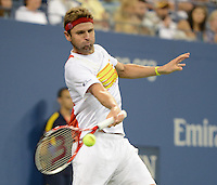 FLUSHING NY- SEPTEMBER 1: Mardy Fish Vs Gilles Simon on Arthur Ashe stadium at the USTA Billie Jean King National Tennis Center on September 1, 2012 in in Flushing Queens. © mpi04/MediaPunch Inc