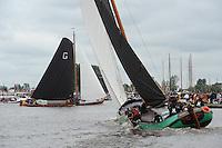 SKUTSJESILEN: GROU: SKS skûtsjesilen, Friese Sporten, 30-07-2011, Fryslân, Grouster skûtsje (It Doarp Grou), De Sneker Pan, ©foto Martin de Jong