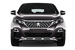 Car photography straight front view of a 2017 Peugeot 3008 GT-Line 5 Door Suv Front View