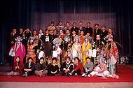April 15th, 1989, Poyang, Jiangxi Province, China. Portait of a traveling opera troupe.