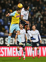 Bolton Wanderers' Josh Magennis competing with Rotherham United's Will Vaulks<br /> <br /> Photographer Andrew Kearns/CameraSport<br /> <br /> The EFL Sky Bet Championship - Bolton Wanderers v Rotherham United - Wednesday 26th December 2018 - University of Bolton Stadium - Bolton<br /> <br /> World Copyright © 2018 CameraSport. All rights reserved. 43 Linden Ave. Countesthorpe. Leicester. England. LE8 5PG - Tel: +44 (0) 116 277 4147 - admin@camerasport.com - www.camerasport.com