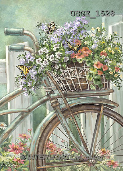 Dona Gelsinger, STILL LIFE STILLLEBEN, NATURALEZA MORTA, paintings+++++,USGE1528,#I# #161# bicycle