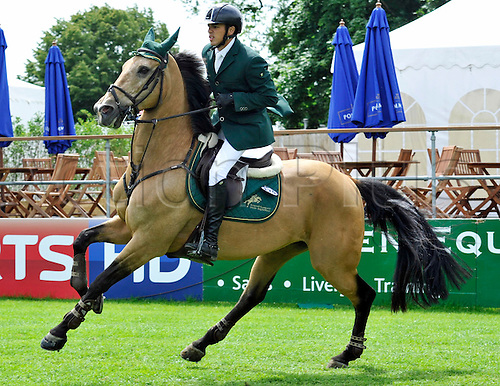 22.06.2013. The Bunn Leisure Derby Trophy. The British Jumping Derby from Hickstead, West Sussex, England. Abdullah Waleed Sharbatly (KSA) riding Chesterfield