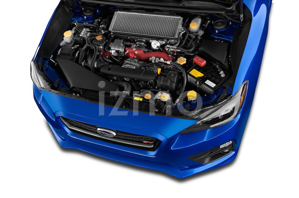 Car Stock 2017 Subaru WRX STI - 4 Door Sedan Engine  high angle detail view