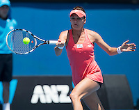 Agnieszka Radwanska..Tennis - Australian Open - Grand Slam -  Melbourne Park  2013 -  Melbourne - Australia - Monday 14th January  2013. .© AMN Images, 30, Cleveland Street, London, W1T 4JD.Tel - +44 20 7907 6387.mfrey@advantagemedianet.com.www.amnimages.photoshelter.com.www.advantagemedianet.com.www.tennishead.net