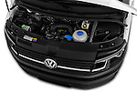 Car Stock 2016 Volkswagen Transporter-Furgon - 4 Door Cargo Van Engine  high angle detail view