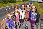 Pictured at the opening of the Annascaul Road on Friday last were l-r: Keelin Finn, Amy Finn, Niamh Hanafin, Claire Finn and Caoimhe Hanafin.