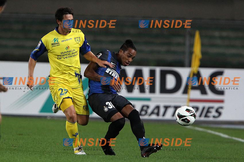"Alvaro Pereira Inter.Verona 26/09/2012 Stadio ""Bentegodi"".Football Calcio Serie A 2012/13.Chievo v Inter.Foto Insidefoto Paolo Nucci."