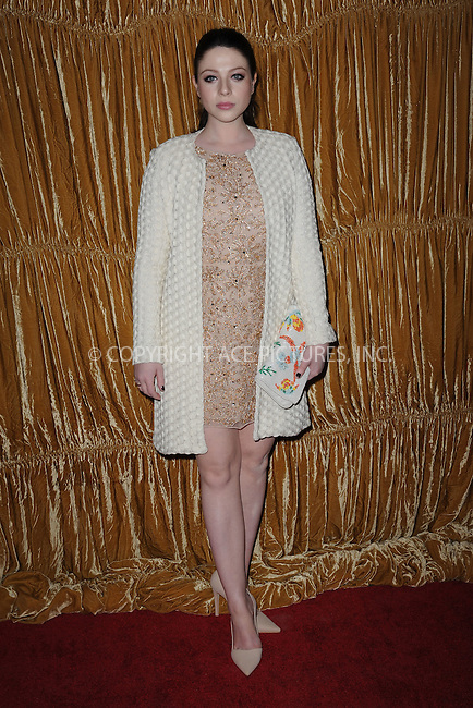 WWW.ACEPIXS.COM<br /> February 16, 2015 New York City<br /> <br /> Michelle Trachtenberg at the alice + olivia by Stacey Bendet fashion presentation on February 16, 2015 in New York City. <br /> <br /> By Line: Kristin Callahan/ACE Pictures<br /> ACE Pictures, Inc.<br /> tel: 646 769 0430<br /> Email: info@acepixs.com<br /> www.acepixs.com