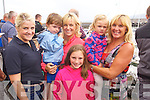 Alison Nulty, Joe O'Halloran, Morna O'Halloran, Laura O'Halloran, Chloe O'Halloran and Sheila Kelly enjoying Fenit Regatta on Sunday.