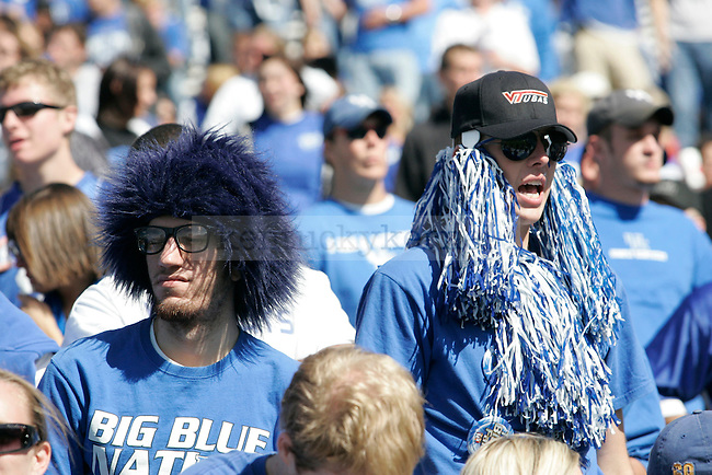 Football fans dressed up to support UK in their game against Alabama at Commonwealth Stadium on Oct. 3, 2009. Photo by Adam Wolffbrandt \ Staff