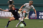18 July 2009: Washington's Sonia Bompastor (FRA) (left) tackles the ball away from Saint Louis' Elise Weber (right). The Washington Freedom defeated Saint Louis Athletica 1-0 at the RFK Stadium in Washington, DC in a regular season Women's Professional Soccer game.