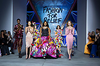 Bella Haddi, Naomi Campbell, Natalia Vodianova, Winnie Harlow and others models walk the runway during Fashion For Relief Cannes 2018 during the 71st annual Cannes Film Festival at Aeroport Cannes Mandelieu on May 13, 2018 in Cannes, France.<br /> CAP/NW<br /> &copy;Nick Watts/Capital Pictures
