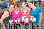 Pictured at the Milltown Mini Marathon on Sunday, from left: Linda Foley (Keel), Aisling Evans (Listry), Gillian Kennedy (Keel) and Aoife Long (Cork/Keel originally)..