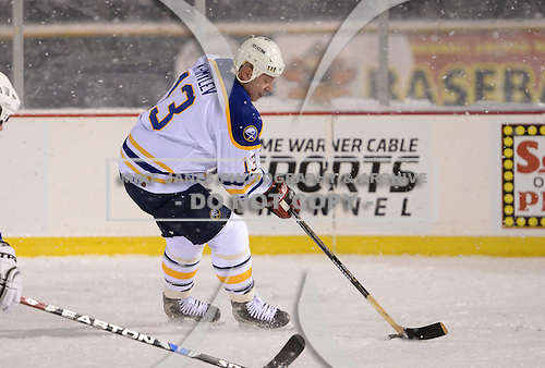 Yuri Khmylev (13) during The Frozen Frontier Buffalo Sabres vs. Rochester Amerks Alumni Game at Frontier Field on December 15, 2013 in Rochester, New York.  (Copyright Mike Janes Photography)