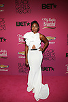 "Actress Tatyana Ali Wearing a  Michael Costello Gown Attends ""BLACK GIRLS ROCK!"" Honoring legendary singer Patti Labelle (Living Legend Award), hip-hop pioneer Queen Latifah (Rock Star Award), esteemed writer and producer Mara Brock Akil (Shot Caller Award), tennis icon and entrepreneur Venus Williams (Star Power Award celebrated by Chevy), community organizer Ameena Matthews (Community Activist Award), ground-breaking ballet dancer Misty Copeland (Young, Gifted & Black Award), and children's rights activist Marian Wright Edelman (Social Humanitarian Award) Hosted By Tracee Ellis Ross and Regina King Held at NJ PAC, NJ"