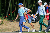 Rory McIlroy (NIR) and Brandon Stone (RSA) make there way to the 2nd tee during the final round at the WGC HSBC Champions 2018, Sheshan Golf CLub, Shanghai, China. 28/10/2018.<br /> Picture Fran Caffrey / Golffile.ie<br /> <br /> All photo usage must carry mandatory copyright credit (&copy; Golffile | Fran Caffrey)