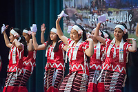 NWA Democrat-Gazette/BEN GOFF @NWABENGOFF<br /> A group of Karen dancers from Clarksville performs a 'Dong dance' Saturday, Jan. 12, 2019, during a Karen new year celebration at the Jones Center in Springdale. The Karen people are an ethnic group native to Southeast Asia.