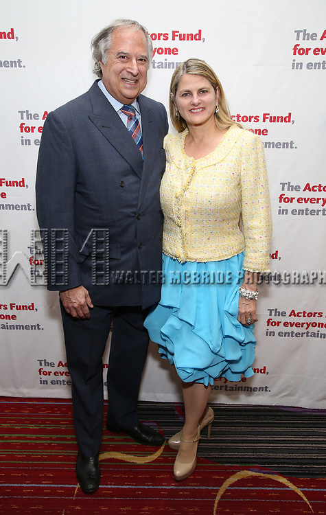 Stewart F. Lane and Bonnie Comley attends The Actors Fund Annual Gala at the Marriott Marquis on 5/8//2017 in New York City.