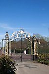 One of the ornate entrance gates into The Regent's Park, London, England